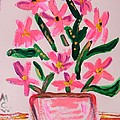 Electric Pink Flowers by Mary Carol Williams