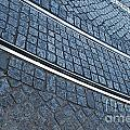 Electric Rail On Portuguese Traditional Pavement by Luis Alvarenga