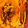 Elephants by Jolanta Shiloni