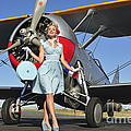 Elegant 1940s Style Pin-up Girl by Christian Kieffer