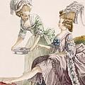 Elegant Lady Having Her Feet Washed by Pierre Thomas Le Clerc