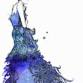 Elegant Woman Wearing Flowing Blue by Jessica Durrant