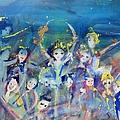Elementals On The Beach Ballet by Judith Desrosiers
