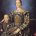 Eleonora Ad Toledo Grand Duchess Of Tuscany by Agnolo Bronzino