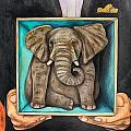 Elephant In A Box Edit 2 by Leah Saulnier The Painting Maniac