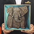 Elephant In A Box by Leah Saulnier The Painting Maniac