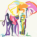 Elephant In Color Ecru by Go Van Kampen