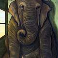 Elephant In The Room by Leah Saulnier The Painting Maniac