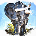 Elephant Statue by Vivian Frerichs