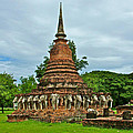 Elephant Stupa At Wat Sarasak In Sukhothai Historical Park-thailand by Ruth Hager