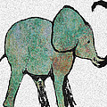 Elephant Water Color by Ellsbeth Page