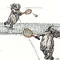 Elephants Playing Tennis by Donna Tucker