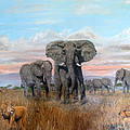 Elephants Warning To The Lions by Mackenzie Moulton