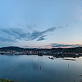 Elevated View Of A Harbor At Sunset by Panoramic Images