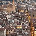 Elevated View Of Florence by Liz Leyden