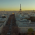 Elevated View Of Paris From Arc De by Panoramic Images