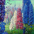Elf And Fantastic Flowers by Galina Gladkaya