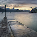 Elgol Pier And Boats With Cuillin by Panoramic Images