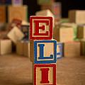 Eli - Alphabet Blocks by Edward Fielding