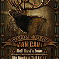 Elk Man Cave Sign by JQ Licensing