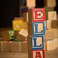 Ella - Alphabet Blocks by Edward Fielding