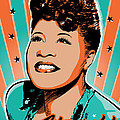 Ella Fitzgerald Pop Art by Jim Zahniser