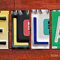 ELLA License Plate Name Sign Fun Kid Room Decor. by Design Turnpike