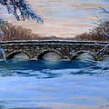 Elm Street Bridge On A Winter's Morn by Jack Skinner