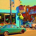 Elses Pub Cafe Plateau Montreal Corner Roy And De Bullion City Scene Art Of Montreal Carole Spandau by Carole Spandau