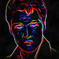 Elvis At Neon by Yury Malkov