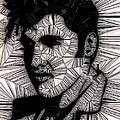 Elvis In Black And White  by Saundra Myles