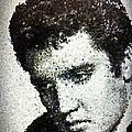 Elvis Love Me Tender Mosaic by Saundra Myles