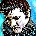 Elvis Presley Never Left The Building Alcohol Inks by Danielle  Parent