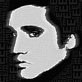 Elvis Presley Silhouette On Black by Tony Rubino