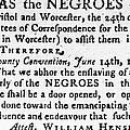 Emancipation Notice, 1775 by Granger