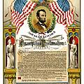 Emancipation Proclamation Tribute 1888 by Daniel Hagerman