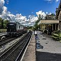 Embsay Railway Station Yorks Dales by Trevor Kersley