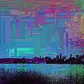 Emerald City Skyline Cubed by Tim Allen
