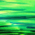 Emerald Flow Abstract I by Irina Sztukowski