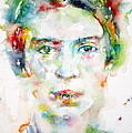 Emily Dickinson - Watercolor Portrait by Fabrizio Cassetta