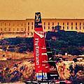 Emirates At Alcatraz by Steven Holloway