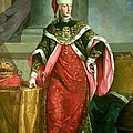 Emperor Francis I 1708-65 Holy Roman Emperor, Wearing The Official Robes Of The Order Of St. Stephan by Austrian School