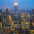 Empire State Building And Midtown Manhattan by Liz Leyden