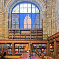 Empire State Building At The New York Public Library by Dave Mills