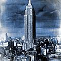 Empire State Building Blimp Docking Blue by Tony Rubino