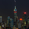 Empire State Building Lightning Strike I by Clarence Holmes