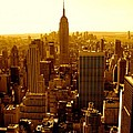Manhattan And Empire State Building by Monique's Fine Art