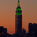Empire State Building Saint Patricks Day Lighting I by Clarence Holmes