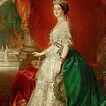 Empress Eugenie Of France 1826-1920 Wife Of Napoleon Bonaparte IIi 1808-73 Oil On Canvas by Franz Xaver Winterhalter