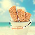 Empty Ice Cream Cones by Amanda Elwell